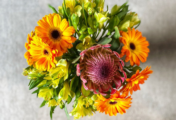 Bringing in the sun with bright yellow and orange
