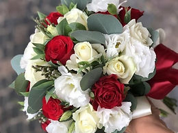 Handtied Bouquet with Candle Set