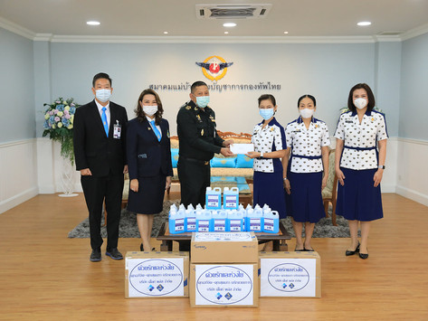 บริษัท ดีไลท์ พลัส จำกัด ได้บริจาคเงินสด จำนวนเงิน 90,000 บาท ให้สมาคมแม่บ้านกองบัญชาการกองทัพไทย