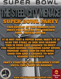 MENACE SUPER BOWL PARTY