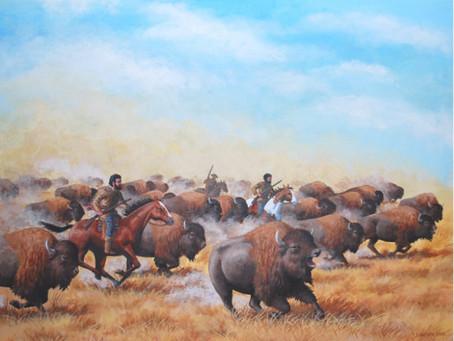 Red River Metis Buffalo Hunting