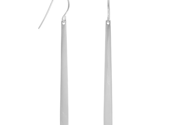 Polished Tapered Matchstick Earrings