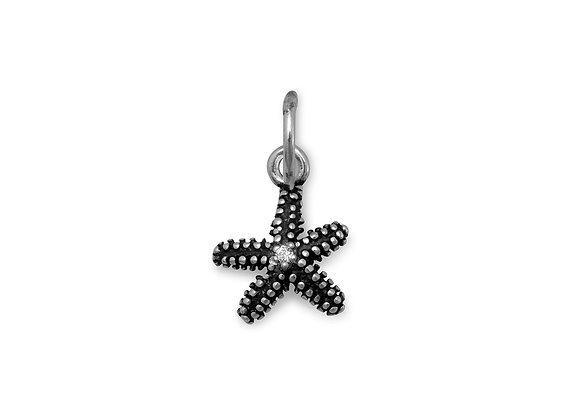 Oxidized Starfish Charm