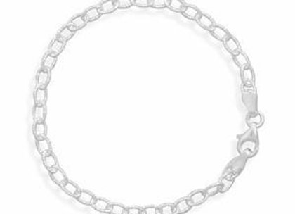 Oval Diamond Cut Link Chain