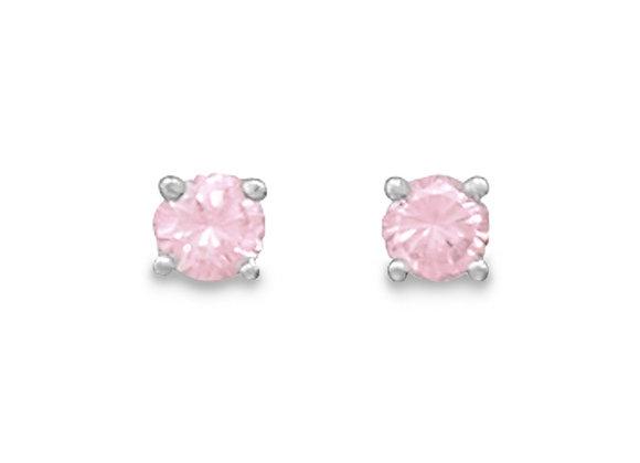 October Birthstone Stud Earrings