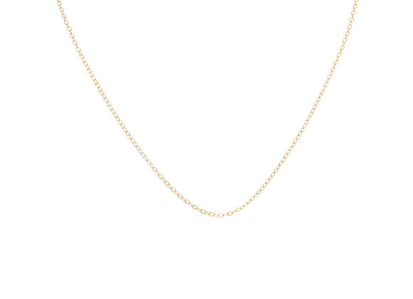 """13""""+1"""" 14/20 Gold Filled Cable Chain"""