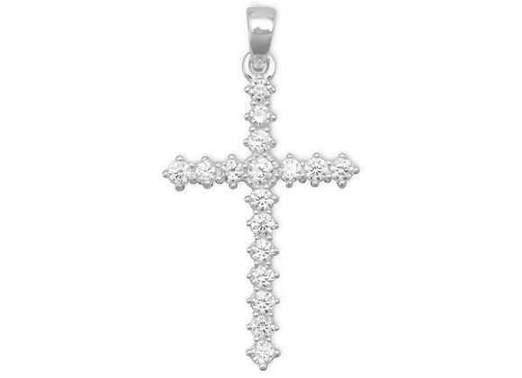 CZ Cross Pendant