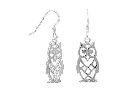 Cut Out Owl Earrings