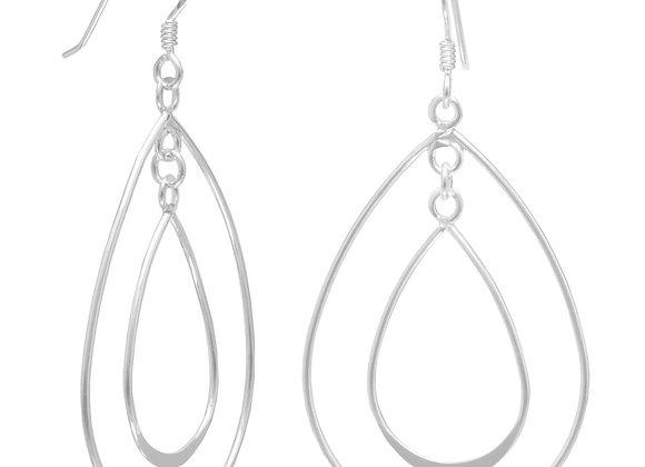 Double Pear Shape French Wire Earrings
