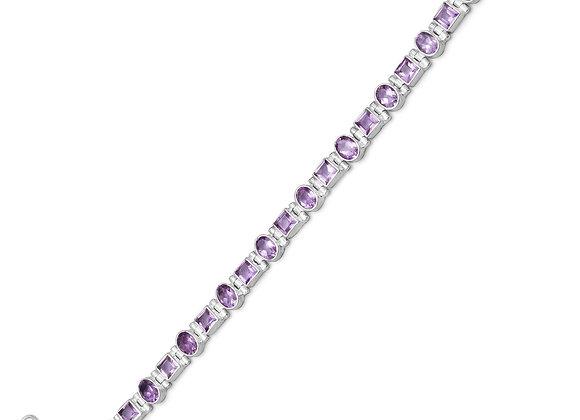 "7""+.5"" Extension Amethyst Bracelet"
