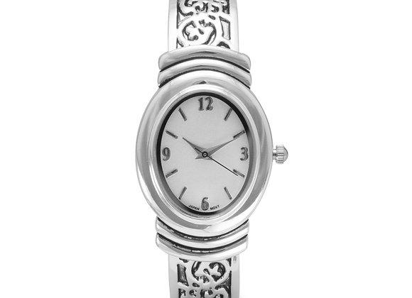 Oxidized Scroll Design Fashion Cuff Watch
