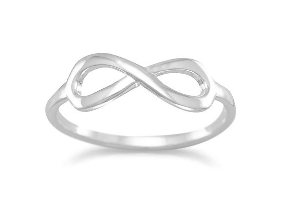 Polished Infinity Ring