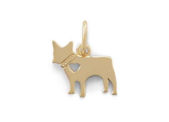 14 Karat Gold Plated Darling Dog Charm