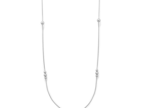 """34"""" Snake Chain with Beads Necklace"""