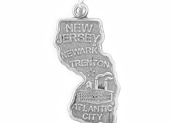 New Jersey State Charm