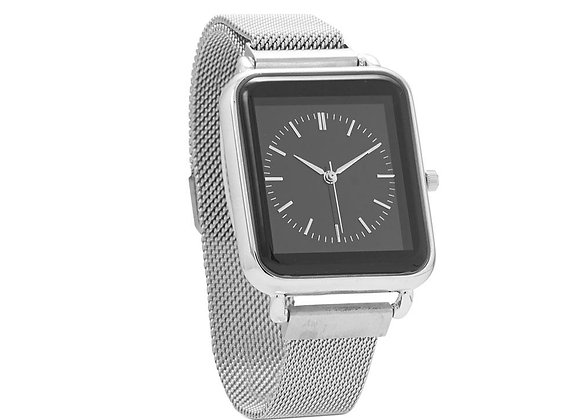 Silver Tone Magnetic Fashion Watch