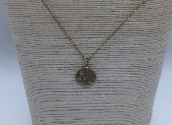 Silver Necklace with gold plating