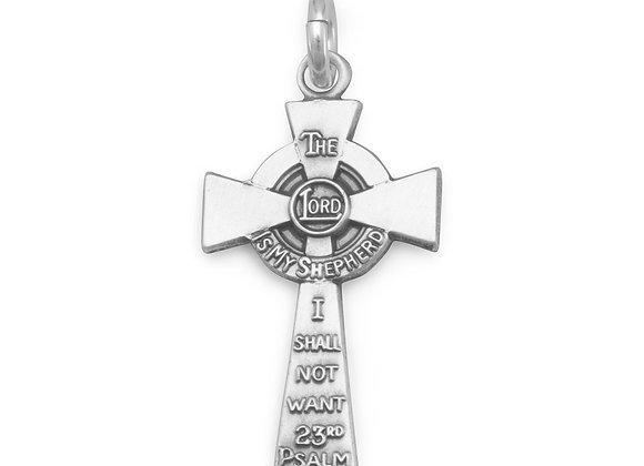 23rd Psalm Cross Charm