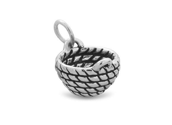 Oxidized Basket Charm