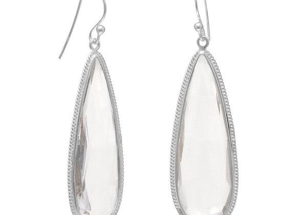 Pear Shape Faceted Quartz Earrings