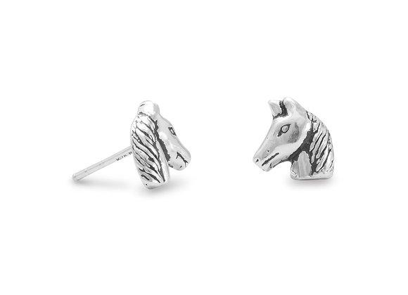 Horse Head Stud Earrings