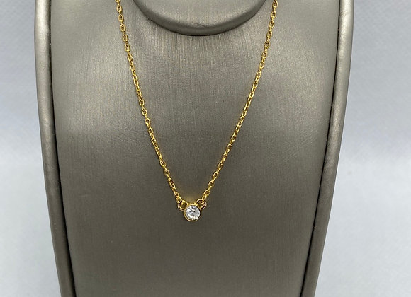 14k yellow gold plated silver necklace