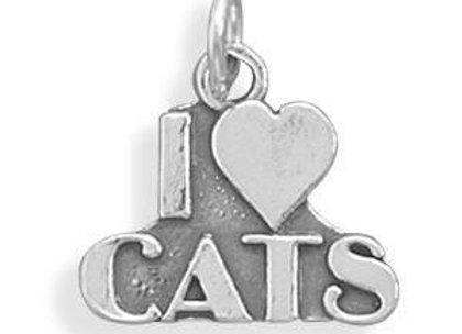 I love Cats Charm