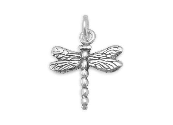 Oxidized Dragonfly Charm
