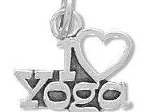 I Love Yoga Charm