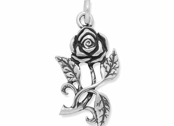 Oxidized Rose Charm