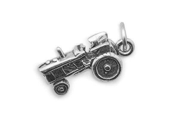 Oxidized Tractor Charm
