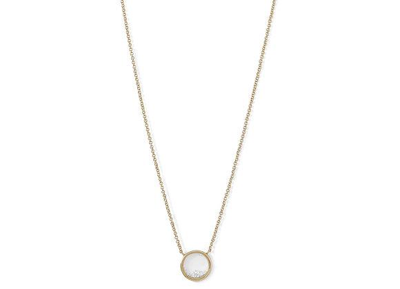 14 Karat Gold Plated Dancing CZ Necklace