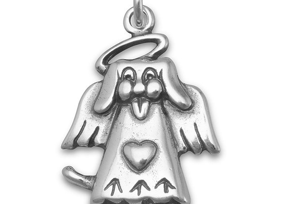 Dog Angel Charm