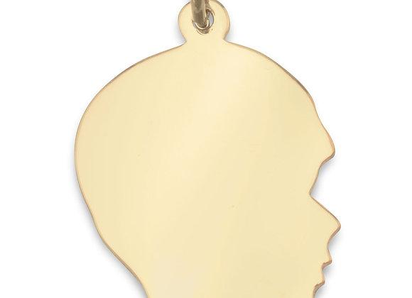 14/20 Gold Filled Engravable Boy's Silhouette Pendant