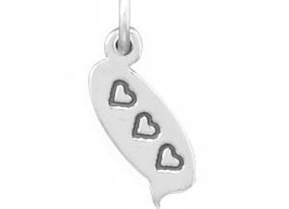 3 Hearts Text Message Charm