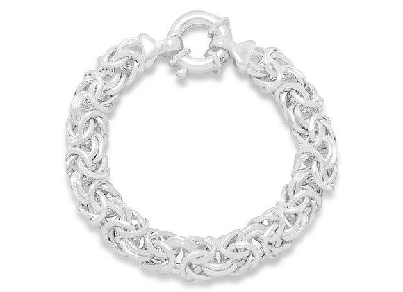 """8"""" 160 Gauge Oval Byzantine Bracelet"""
