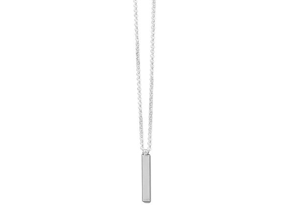 """18"""" Sterling Silver Drop Bar Necklace"""
