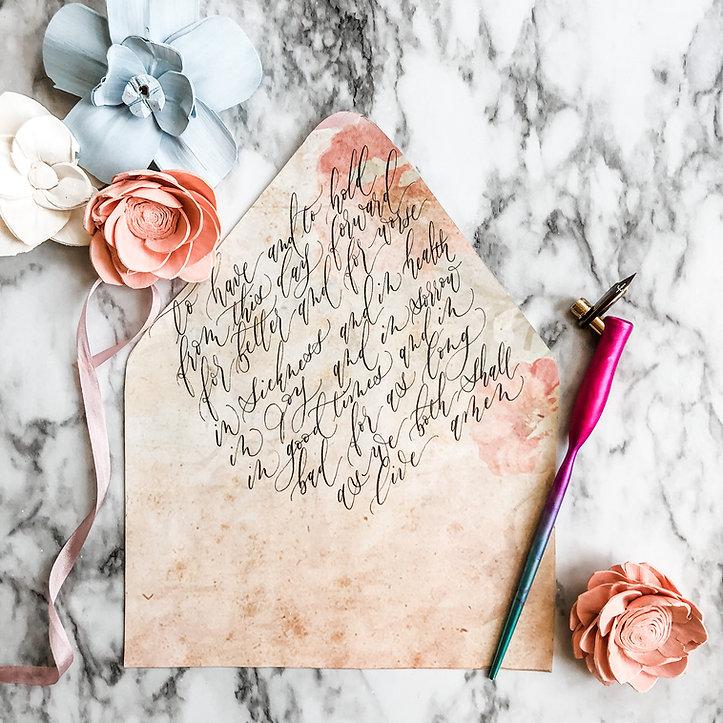 Modern Calligraphy Envelope Liner