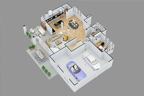 3D-Grundrissplan