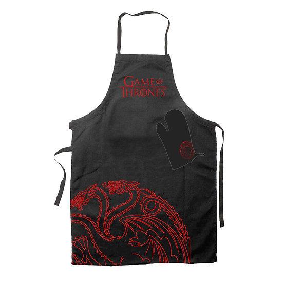 Game of Thrones Kochschürze mit Handschuh Targaryen