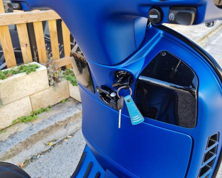 Vespa GTS 300 SUpersport HPE BLau matt Tuning Zelioni Rizoma SIP Malossi Polini HC-Corse B