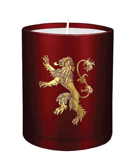 Game of Thrones Kerze im Glas, House Lannister 8 x 9 cm