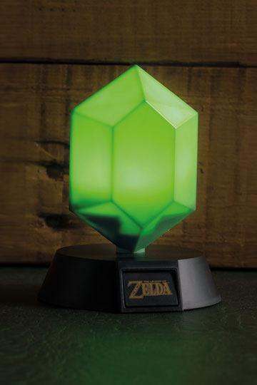 Legend of Zelda 3D Lampe Grüner Rubin 10 cm