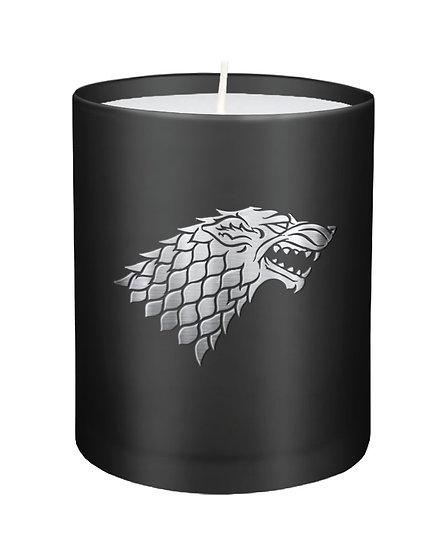 Game of Thrones Kerze im Glas, House Stark 8 x 9 cm