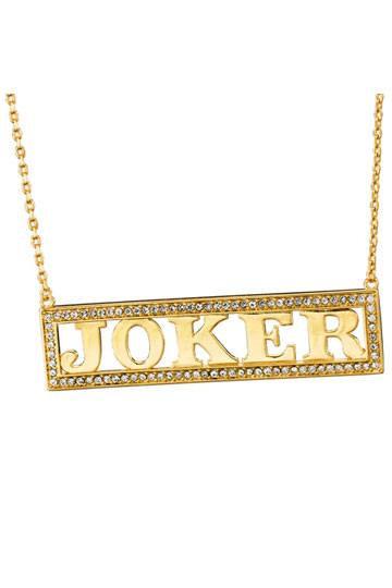 Suicide Squad Halskette Harley Quinn's Joker (vergoldet)