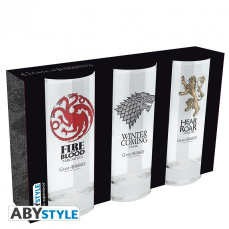 Game of Thrones 3er Set Gläser