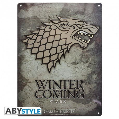 Game of Thrones Blechschild Stark