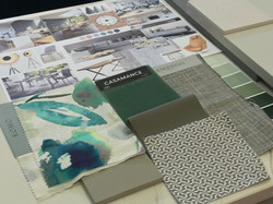 Colour scheme for soft furnishings
