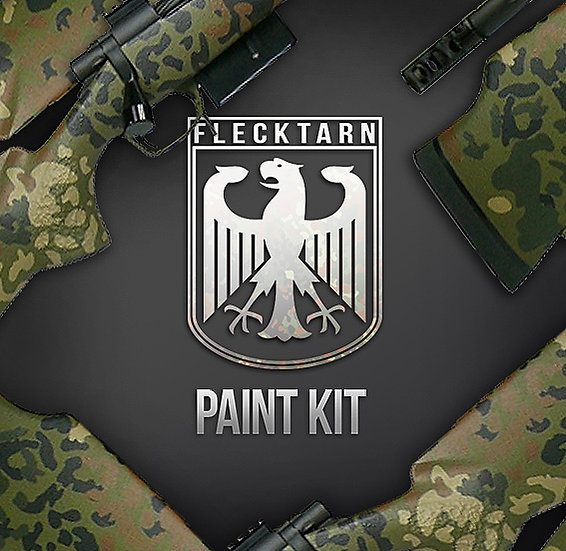 Flecktarn Camouflage Stencils and Paint Kit