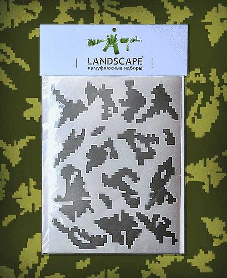 RUSSIAN BEREZKA Landscape Paint stencil Package